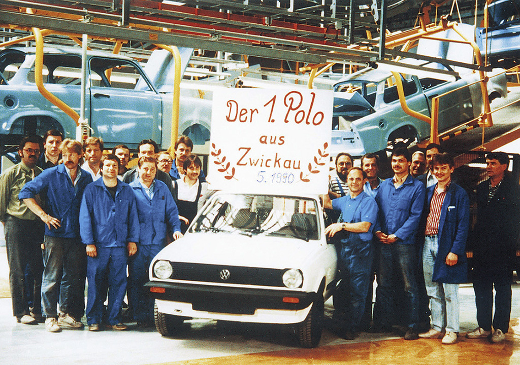 The first Volkswagen produced at the company's Zwickau complex was a Polo.