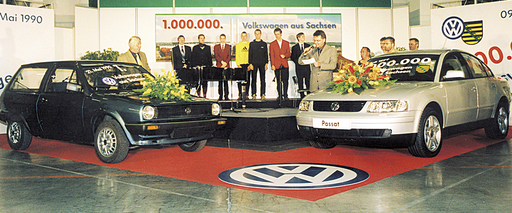 The one millionth VW, a Passat, rolled off the Zwickau production lines in 1999.