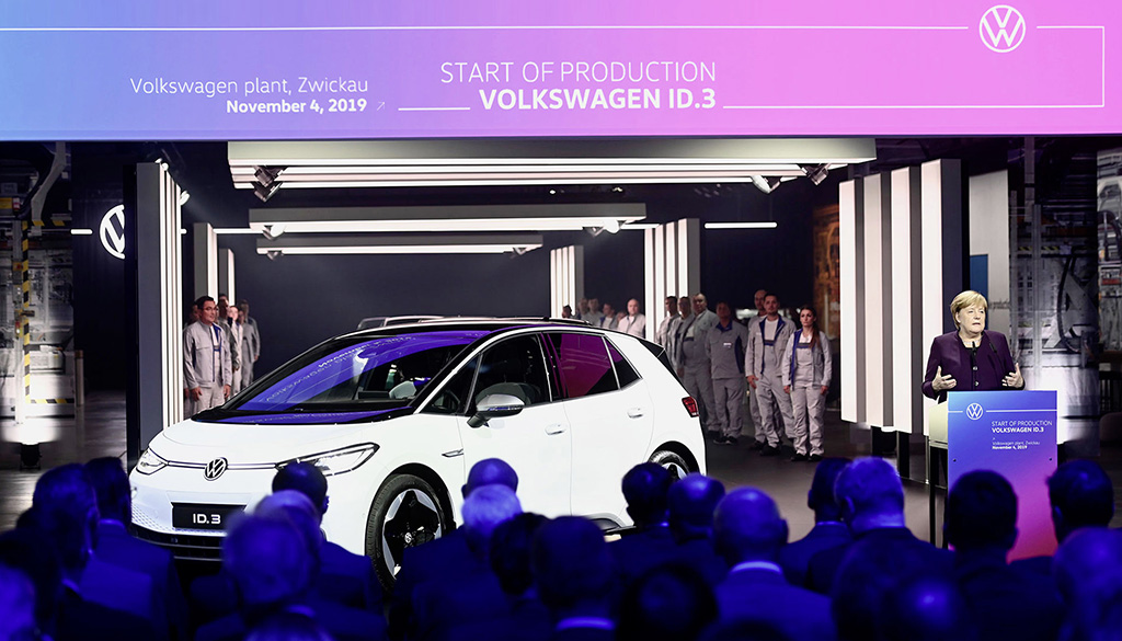ID 3 production starts at Zwickau on 4 November 2019, at a lavish ceremony attended by German chancellor Angela Merkel.