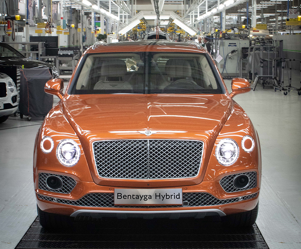 The bodies of the Bentley Bentayga were made at Volkswagen's Zwickau factory from 2016.